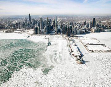 Así se ve desde el aire Chicago, las cataratas del Niagara y Nueva Inglaterra congeladas