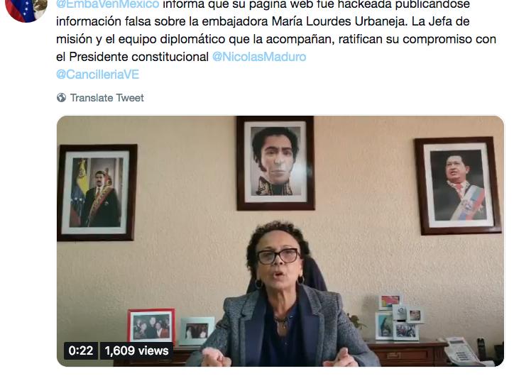 Hackean páginas oficiales de embajadas venezolanas; publican boletines que reconocen a Guidó