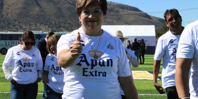 Afirma alcaldesa que en Apan hay agua en exceso
