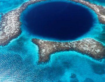 Descubren huellas misteriosas en el fondo del Gran Agujero Azul de Belice