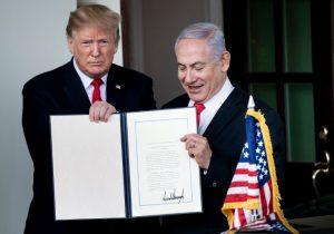 Trump rompe consenso internacional y reconoce la soberanía de Israel sobre una zona disputada