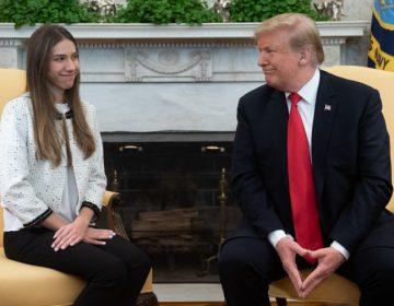 Trump recibe a la esposa de Guaidó en la Casa Blanca y le pide a Rusia retirarse de Venezuela