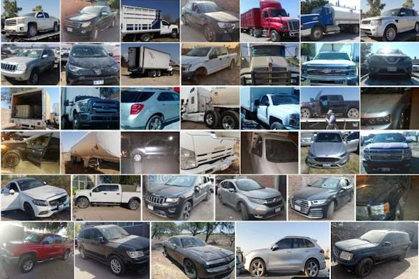 Fiscalía asegura 112 vehículos robados almacenados en Santa Rosa de Lima