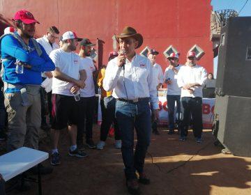 Cuesta arriba, en el 'Cerro Colorado', empieza la campaña de Ignacio Anaya a la gubernatura