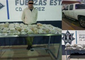 Incautan droga y detienen a uno en Cd. Juárez