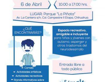 Invitan a Feria Azul por el Autismo este 6 de abril
