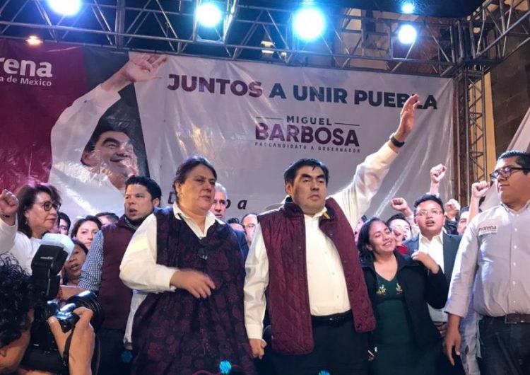 Miguel Barbosa es elegido candidato de Morena a la gubernatura de Puebla