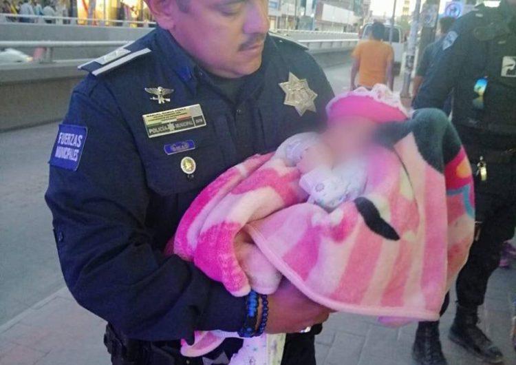 Rescatan a bebé; mujer intentó arrojarla al vacío