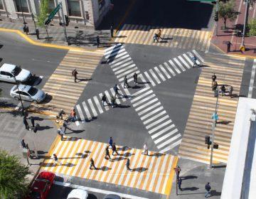 """Estrenan """"pasos peatonales en diagonal"""" en la ciudad"""