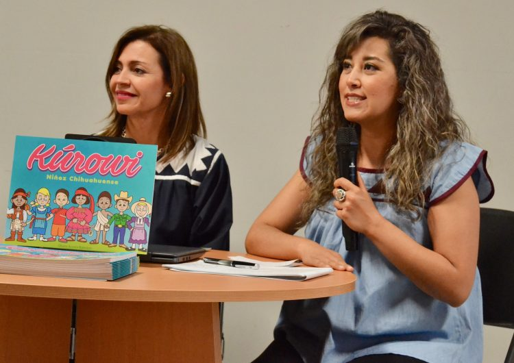 Plasman cultura chihuahuense en libro para colorear