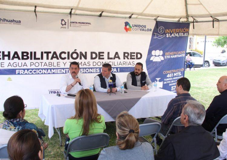 Rehabilitan red de agua potable en Las Misiones por 1.5 mdp