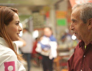 Tere Jiménez visita a los locatarios del Mercado Juárez