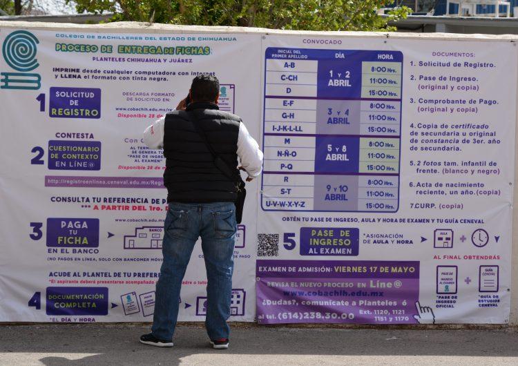 Entregan 15 mil 774 fichas para examen de ingreso al Cobach