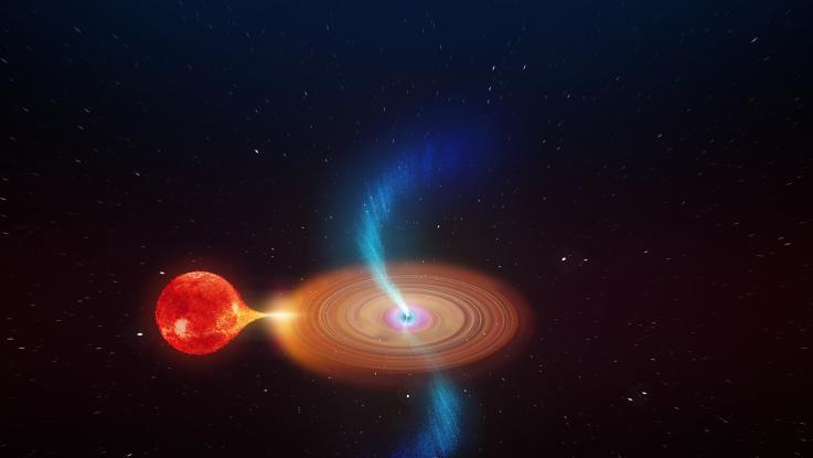 """Detectan un agujero negro que emite chorros de plasma """"oscilantes"""""""