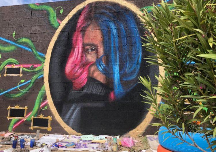 """""""Existimos porque resistimos""""; pintan mural para Dana"""