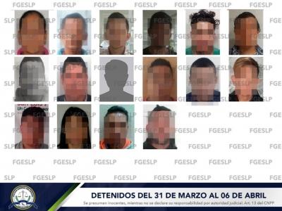Durante la primera semana de abril fueron detenidas 16 personas
