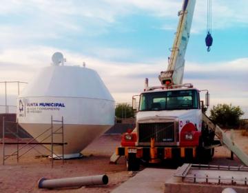 Entregan tanque elevado para agua potable en El Torreón