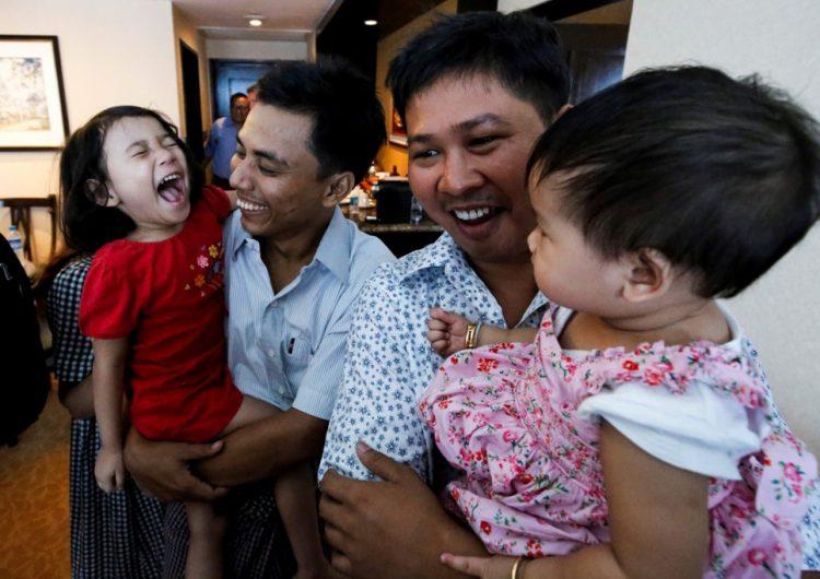 Birmania libera a dos periodistas de Reuters que pasaron encarcelados más de 500 días