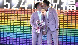 Se casan las primeras parejas gay en Taiwán, el primer…