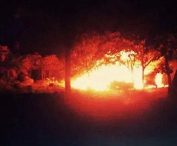 Localizan toma clandestina tras incendio en pastizal de General Cepeda