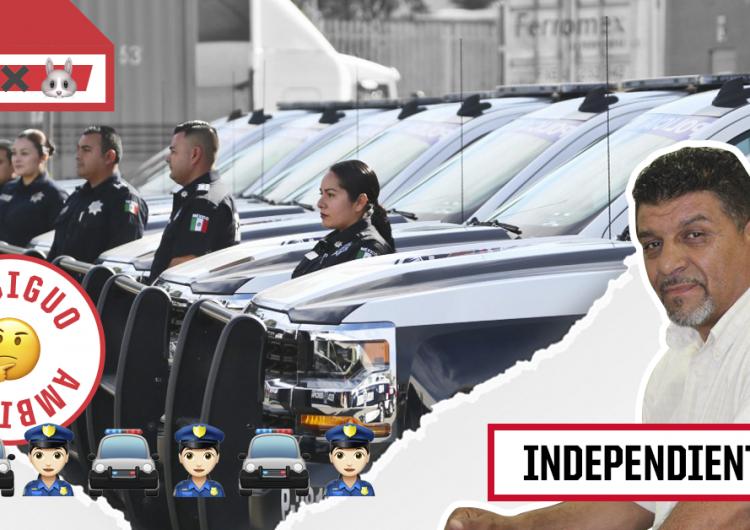Independiente a la alcaldía de Ensenada promete depurar y equipar a policías, pero la gestión de recursos es ambigua