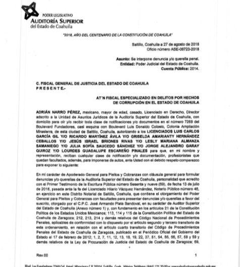 Abierta la investigación por el caso Ficrea: Jesús Flores, Fiscal Anticorrupción del estado de Coahuila