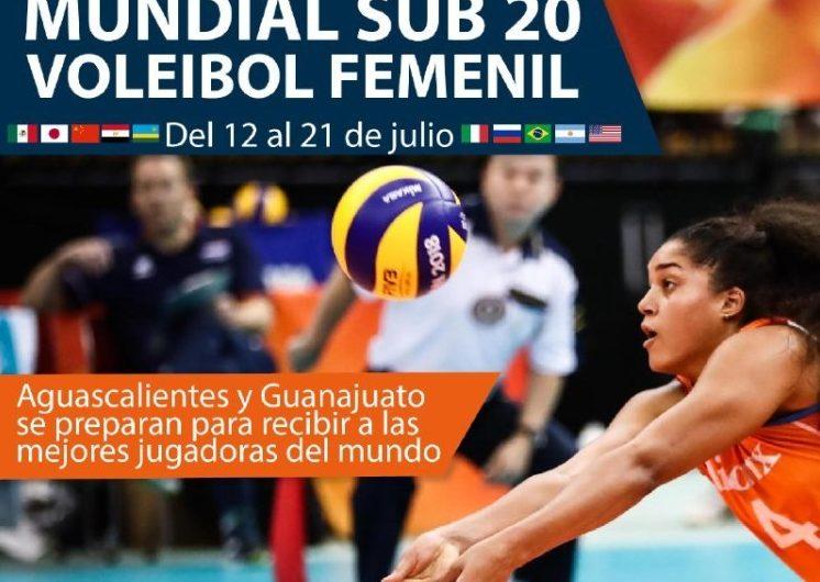 Guanajuato y Aguascalientes serán sedes del Mundial de Vóleibol Sub-20