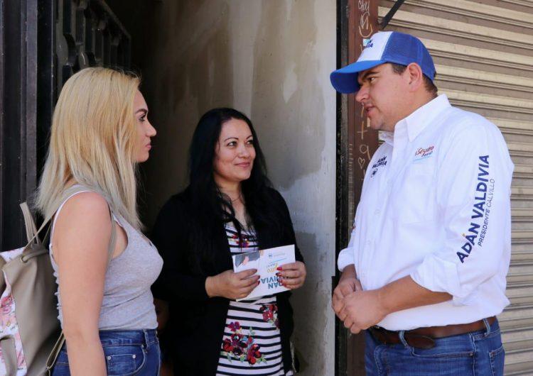 Cuidar a los jóvenes calvillenses son de las propuestas de Adán Valdivia