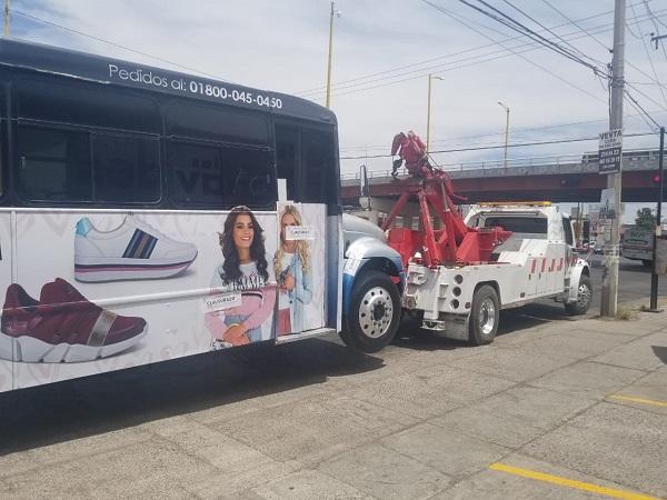 Ya son siete camiones urbanos irregulares sacados de circulación: CMOV