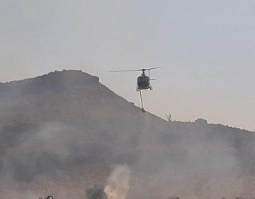 Mandan al Águila 1 a sofocar incendio en área natural de Querétaro