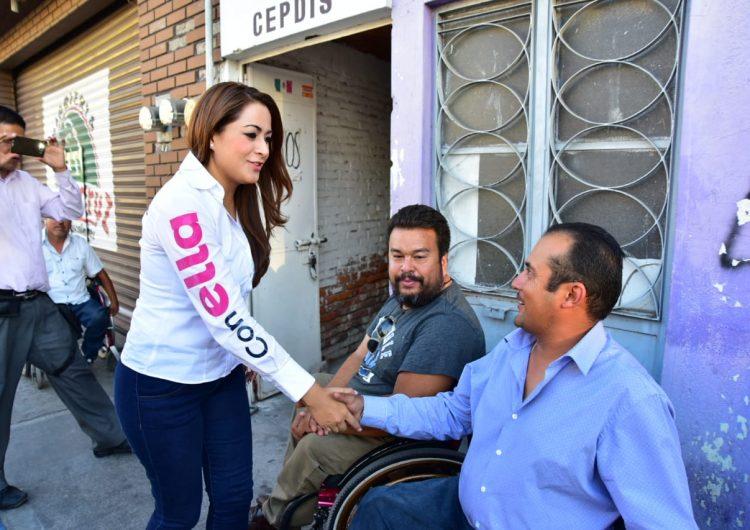 Inclusión social, uno de los objetivos de la candidata Tere Jiménez