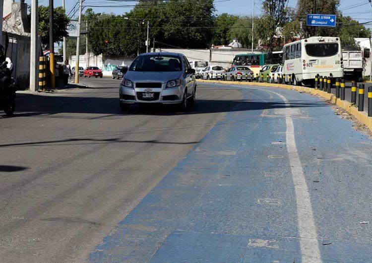 Ciclovías de Puebla no son funcionales
