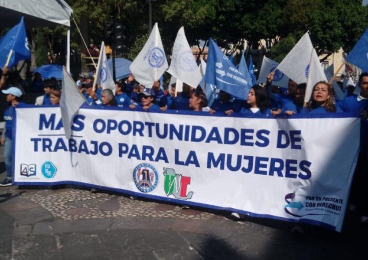 """""""No a la reforma laboral"""" claman obreros en Día Internacional del Trabajo"""