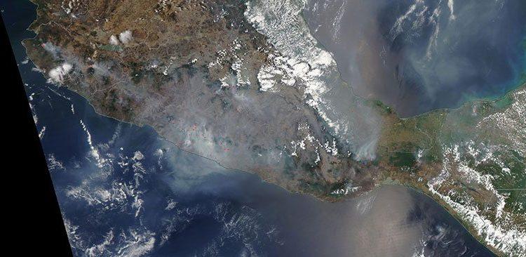 La NASA muestra cómo se ve la contaminación en México provocada por incendios