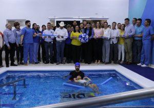 Inaugura DIF Estatal alberca terapéutica en UBR de Camargo