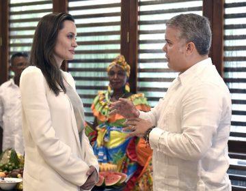 Angelina Jolie aboga en Colombia por los niños venezolanos apatriados