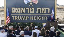 "Netanyahu inaugura la colonia ""Trump"" en zona anexada y ocupada…"