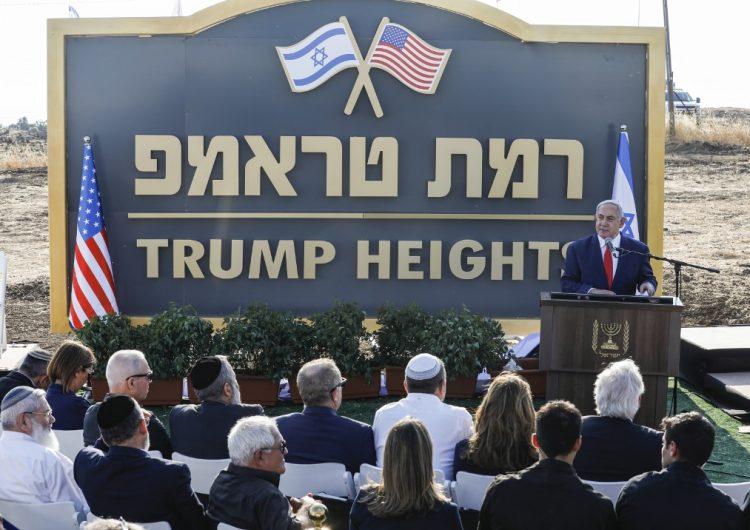 """Netanyahu inaugura la colonia """"Trump"""" en zona anexada y ocupada por Israel"""