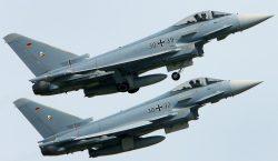 Colisionan dos aviones Eurofighter del ejército alemán durante maniobras aéreas
