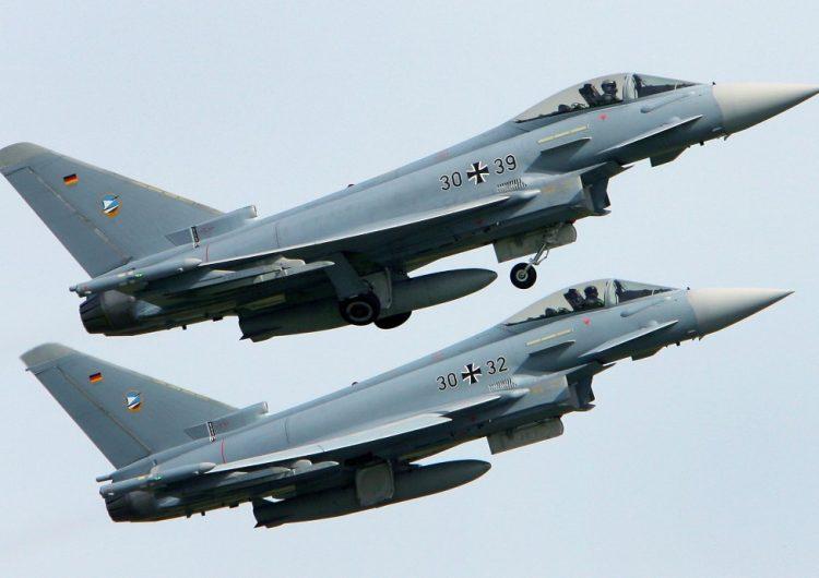 Colisionan dos aviones Eurofighter del ejército alemán; muere un piloto