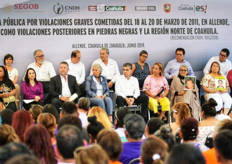 Piden disculpas por los atentados en Allende; familiares de las víctimas las rechazan
