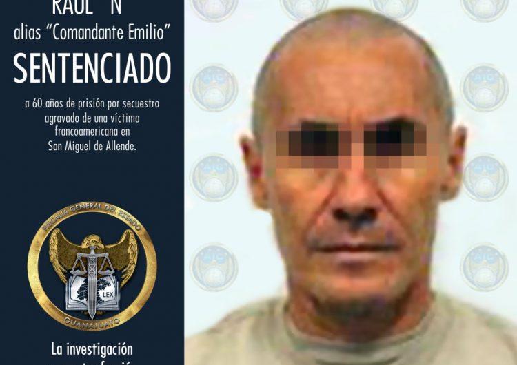 Dan 60 años de prisión a secuestrador de San Miguel de Allende