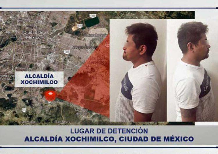 """Detienen a """"El Grillo"""" en Xochimilco, peligroso líder criminal de Puebla"""