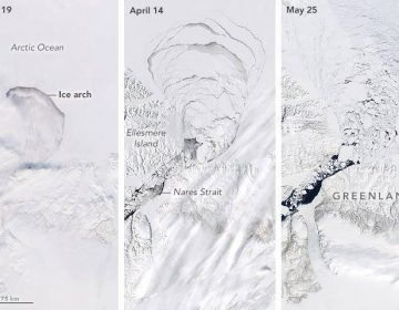 Arco de hielo ártico colapsa meses antes de lo esperado, según la NASA