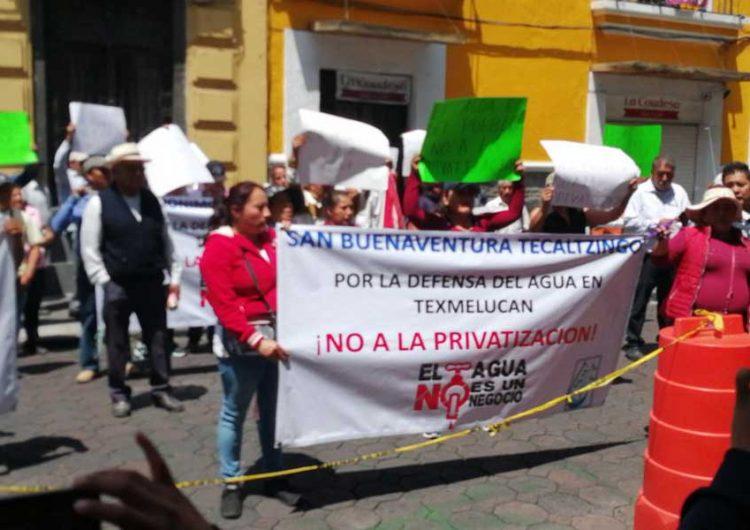 Se pretende privatizar agua en municipio poblano, acusan habitantes