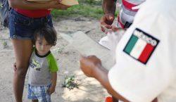 El flujo de migrantes en el sur de México disminuye…