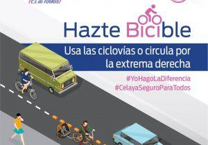 En 2020, ciclistas que falten al reglamento en Celaya serán sancionados