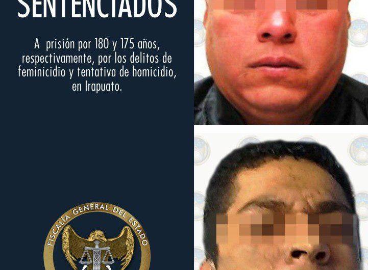 Condenan a 175 años a responsables del feminicidio de una policía
