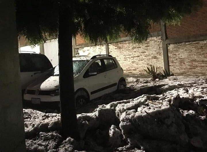 Cae intensa granizada en San Miguel de Allende