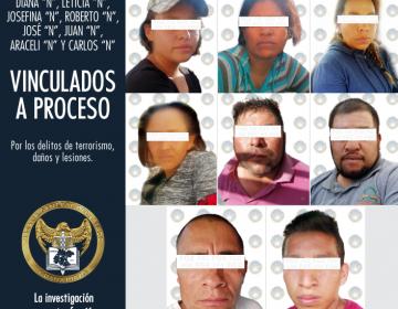 Dan prisión preventiva a los acusados de terrorismo en Villagrán